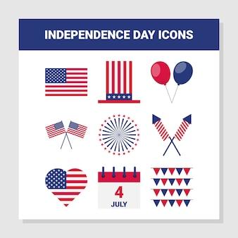アメリカ独立記念日のアイコン