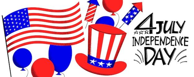 アメリカ独立記念日のデザイン