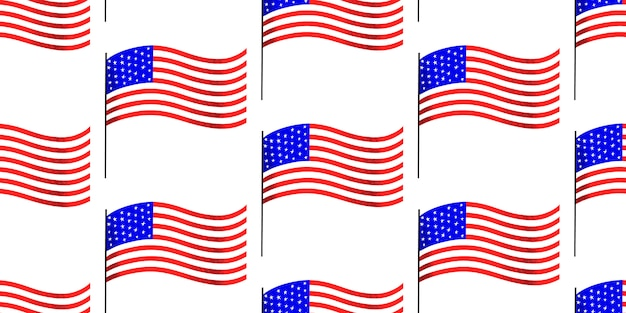 America independent day seamless pattern. vector festive illustrations. 4th of july