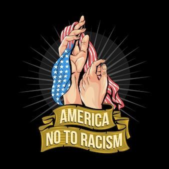 America no to racism artwork