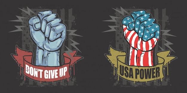 America usa hand labour day vector