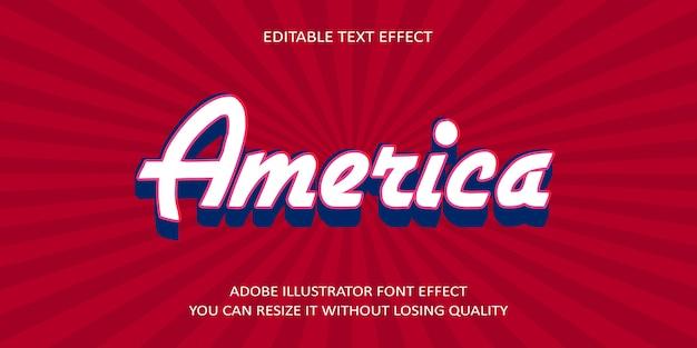 America vector text font effect