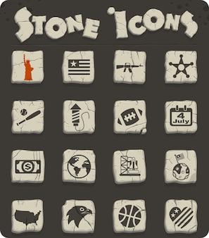 사용자 인터페이스 디자인을 위한 미국 웹 아이콘