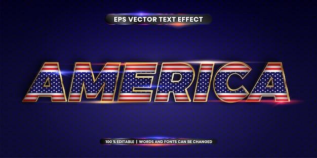 Американские слова, редактируемый текстовый эффект