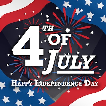 4th Of July Independence Day Background Vector Free Download