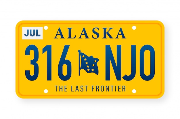 American alaska number. retro style. classic retro symbol.  template.