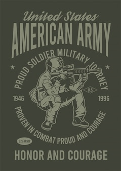 American army design illustration