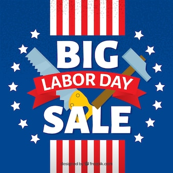 American background of labor day sales with tools