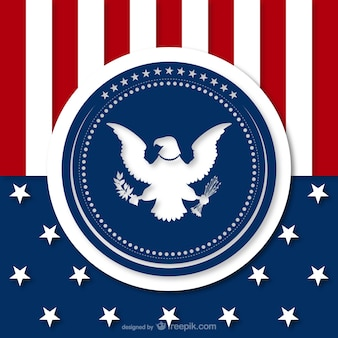 American background with eagle silhouette