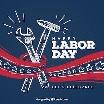 労働日のスケッチとアメリカの背景