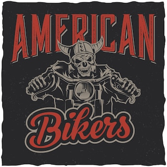 Poster di motociclisti americani