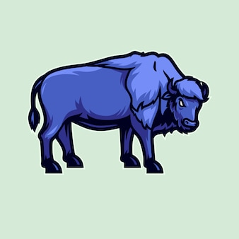 American bison vector illustration