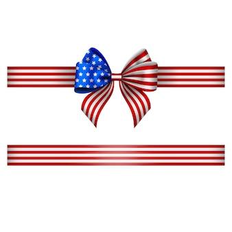 アメリカの弓とリボン