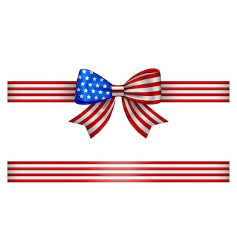 American bow and ribbon