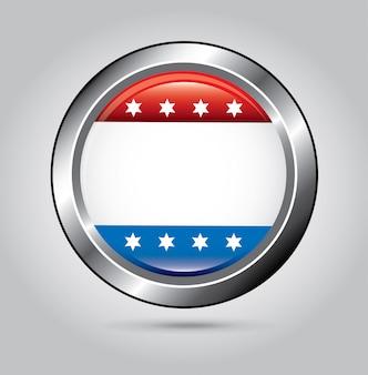 American button