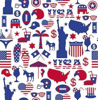 American design seamless pattern.