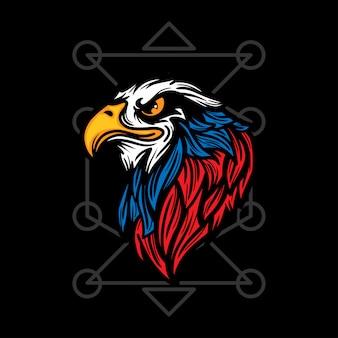 American eagle hand drawn illustration