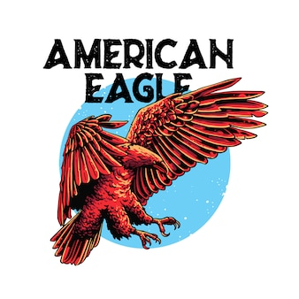 American eagle illustration