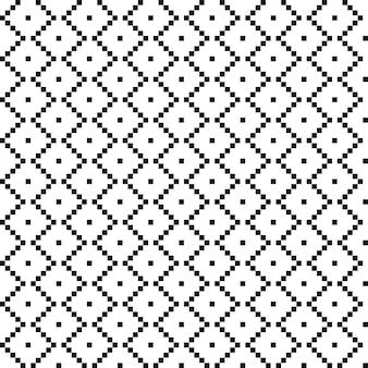 正方形のアメリカンエスニックシームレスパターン。流行に敏感な背景は白黒です