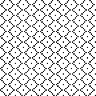 American ethnic seamless pattern with squares. hipster background is black and white