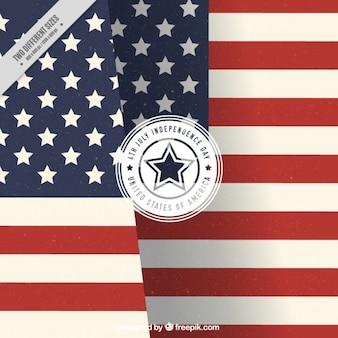 Sfondo bandiera americana in design piatto