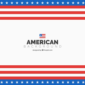 American flag background in flat design