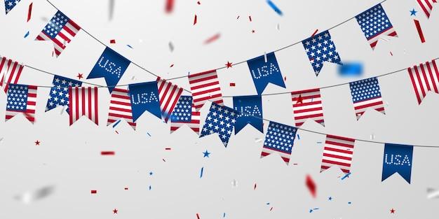 미국 국기 배경입니다.