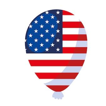American flag in balloon