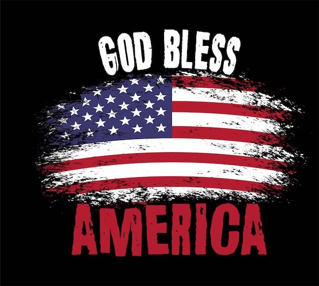 American flag on black