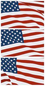 アメリカのフラットデザインの装飾。ベクトルの背景