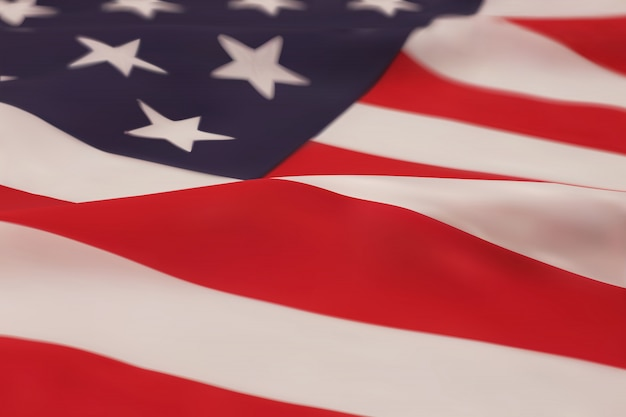 American flag.  illustration.