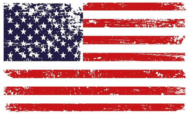 グランジスタイルでアメリカの国旗