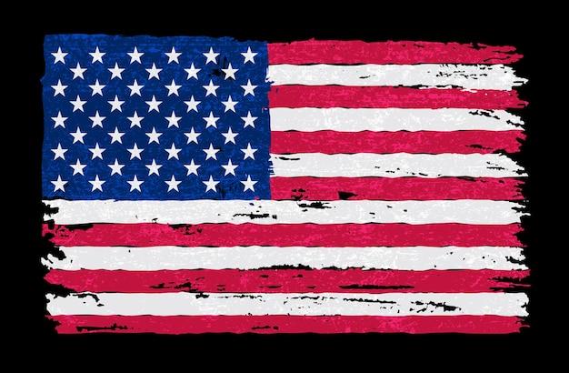 グランジスタイルのアメリカ国旗