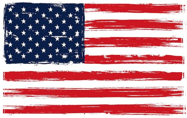 Американский флаг в стиле гранж