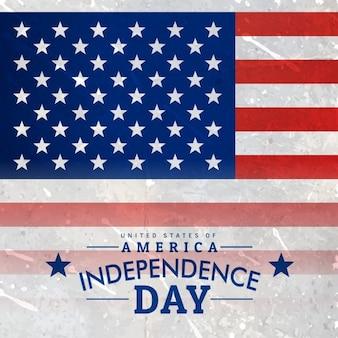 Американский флаг в текстурированный фон