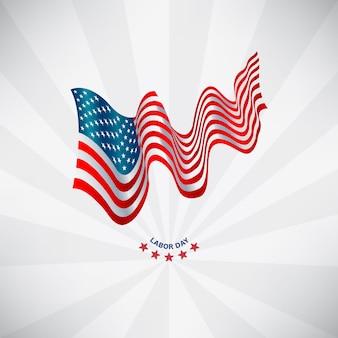 アメリカの旗労働日の概念