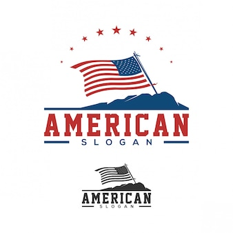 American flag logo design