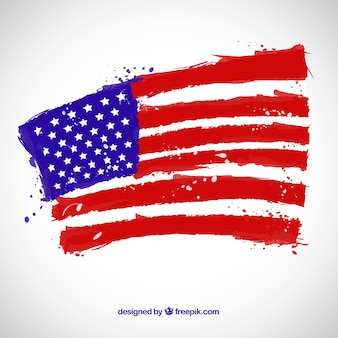 American flag with grunge style