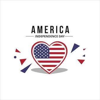 Американский флаг с оригинальным цветом