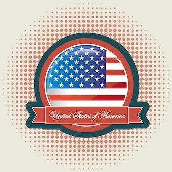 アメリカの国旗 Premiumベクター