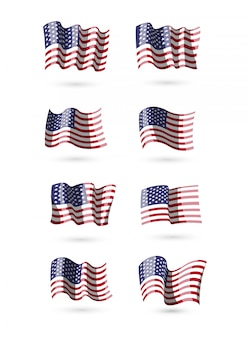 American flags collection