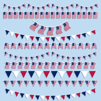 American flags and pennants