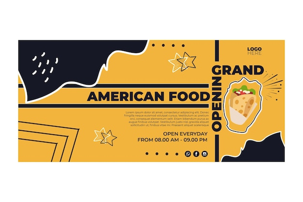 American food banners