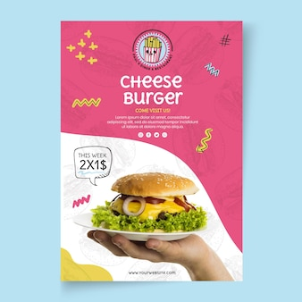 American food chesseburger template