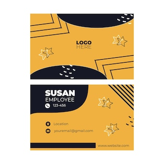 American food double sided business card template