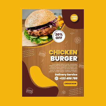 American food poster template