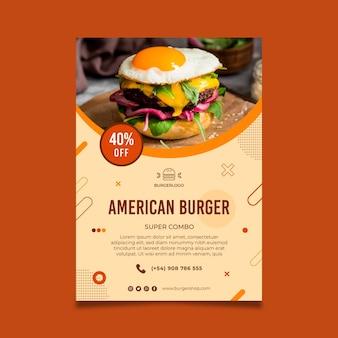 Modello di poster di cibo americano