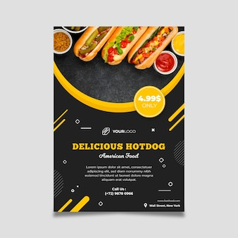 American food restaurant flyer template