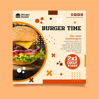 American food squared flyer template
