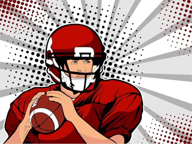 American football athlete